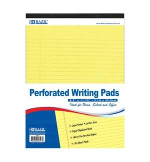 BAZIC #597 WRITING PADS, YELLOW