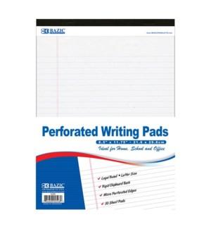 BAZIC #598 WRITING PADS, WHITE