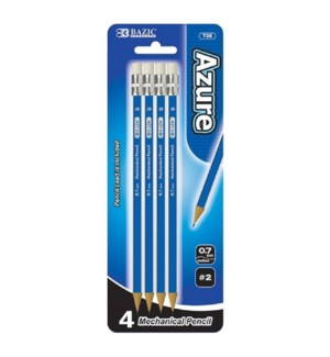 BAZIC #728 MECHANICAL PENCIL, AZURE