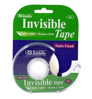 BAZIC #901 INVISIBLE TAPE W/DISPENSE