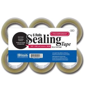 BAZIC #917 6PK CLEAR PACKING TAPE