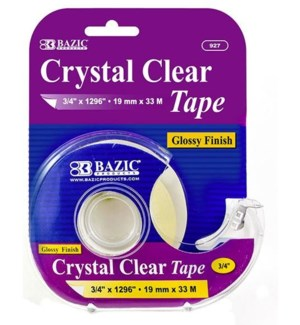 BAZIC #927 TAPE, CRYSTAL CLEAR W/DISPENE