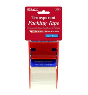 BAZIC #936 CLEAR PACKING TAPE W/DISPENSER