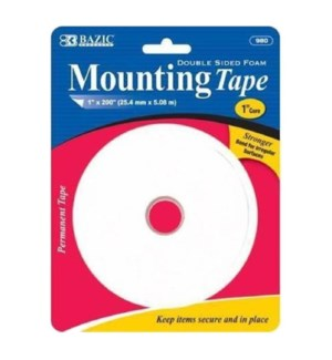 BAZIC #980 FOAM MOUNTING TAPE, DOUBLE SIDED
