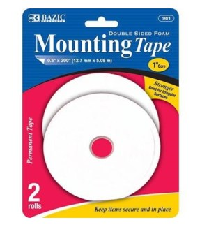 BAZIC #981 MOUNTAIN TAPE, DUBL SIDED