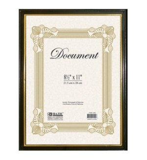 BAZIC #1402 DOCUMENT FRAME W/GOLD BORDE