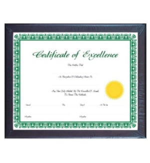 BAZIC #1404 CERTIFICATE FRAME W/GLASS CO