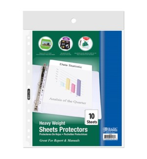BAZIC #2132 SHEET PROTECTORS, TOP LOADING