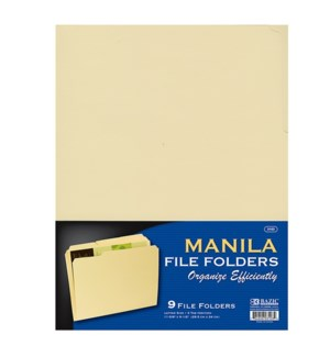 BAZIC #3103 MANILLA FILE FOLDERS