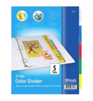 BAZIC #3117 3-RING BINDER DIVIDERS