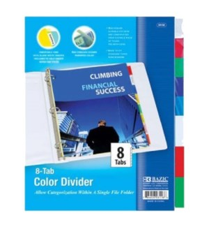 BAZIC #3118 3-RING BINDER DIVIDERS