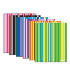 BAZIC #3169 POLY PORTFOLIO, STRIPED