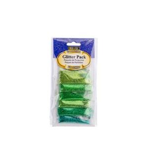 BAZIC #3477 GLITTER GREEN COLOR