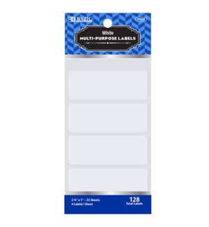 BAZIC #3802 WHITE LABELS, MULTI PURPOSE