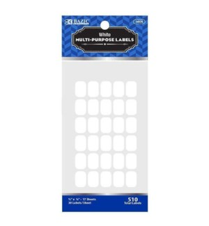 BAZIC #3805 WHITE LABELS/MULTI PURPOSE