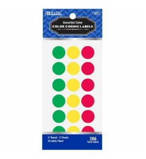 BAZIC #3807 COLOR LABELS, CODING