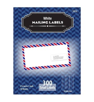 BAZIC #3818 ADDRESS LABELS, WHITE