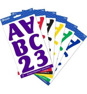 BAZIC #3821 ALPHABET STICKERS 10 SHEETS