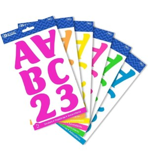 BAZIC #3823 ALPHABET STICKERS FLUORESCENT