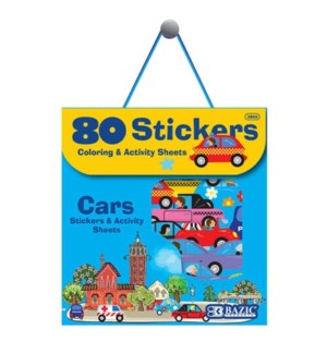 BAZIC #3860 ASST STICKERS, CAR SEREIES