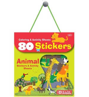 BAZIC #3861 ASST STICKERS, ANIMAL SERIES