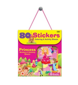 BAZIC #3863 ASST STICKERS, PRINCESS