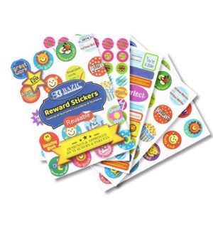 BAZIC #3874 REWARD STICKER BOOK, PLASTIC