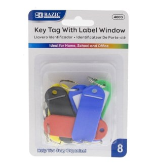 BAZIC #4003 KEY TAG W/LABEL WINDOW