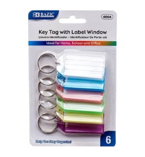 BAZIC #4004 KEY TAGS W/HOLDER LABEL WIND