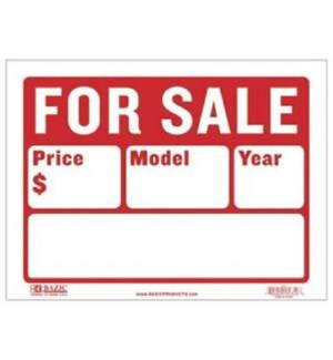 BAZIC #S-2 FOR SALE SIGN (2 LINE)