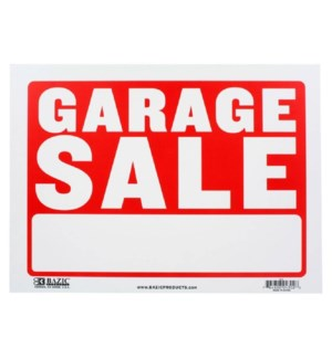 BAZIC #S-3 GARAGE SALE SIGN