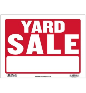 BAZIC #S-16 SIGN YARD SALE