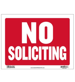BAZIC #S-30 SIGN NO SOLICITING