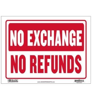 BAZIC #S-52 SIGN NO EXCHANGE NO REFUNDS