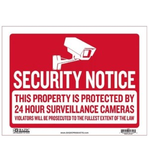 BAZIC #S-55 SIGN, SECURITY NOTICE