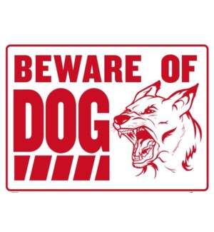BAZIC #L-10 BEWARE OF DOG SIGN