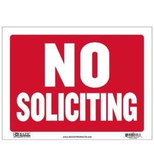 BAZIC #L-30 SIGN NO SOLICITING