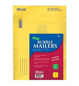 BAZIC #5003 BUBBLE MAILERS SELF SEAL