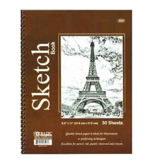 BAZIC #5045 SKETCH BOOK, SPIRAL
