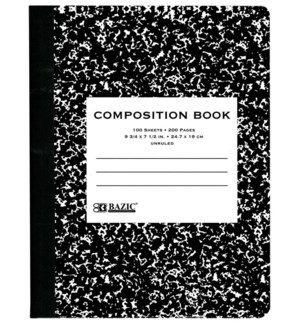 BAZIC #5051 COMPOSITION BOOK, UNRULED