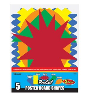 BAZIC #5059 PRE CUT POSTER BOARD SHAPES