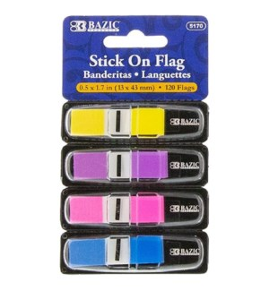BAZIC #5170 CODING FLAGS, NEON W/DISPENSER