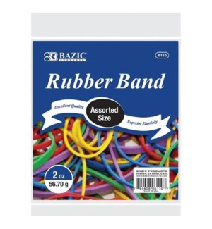 BAZIC #6110 RUBBER BAND, ASST COLORS