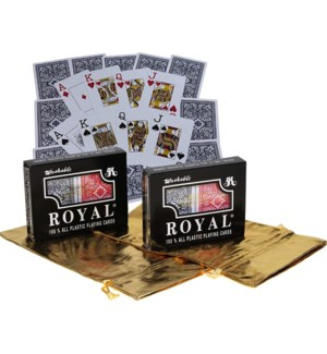 ROYAL PLAYING CARDS DUBLE DK (100% PLASTIC)