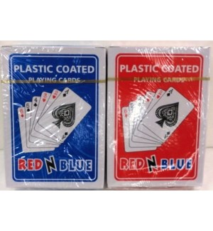 PLAYING CARDS - RED N BLUE