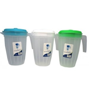 WATER PITCHER #CH87009 WITH LID, ASST