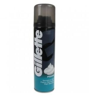 GILLETTE #222 SENSITIVE FOAM SHAV CREAM