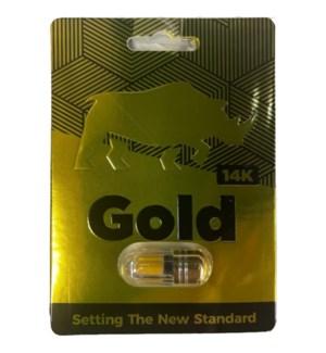 X PILLS - GOLD 14K #493 FOR ENERGY