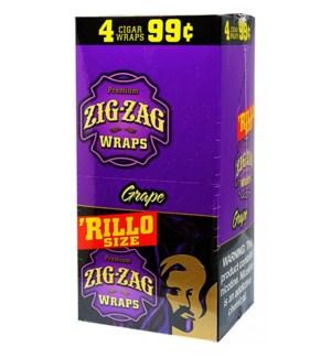 ZIG ZAG RILLO - GRAPE WRAPS PP.1.29$