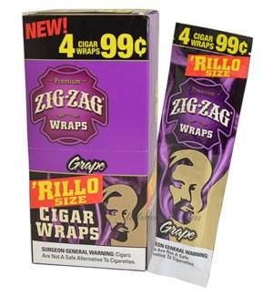 ZIG ZAG RILLO - GRAPE WRAPS
